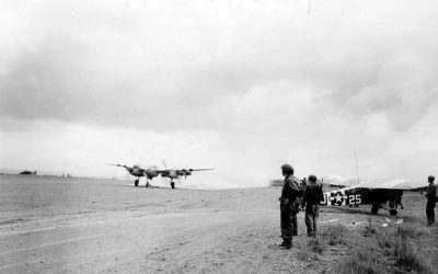 The A10 Airfield at Carentan, an American airfield in 1944
