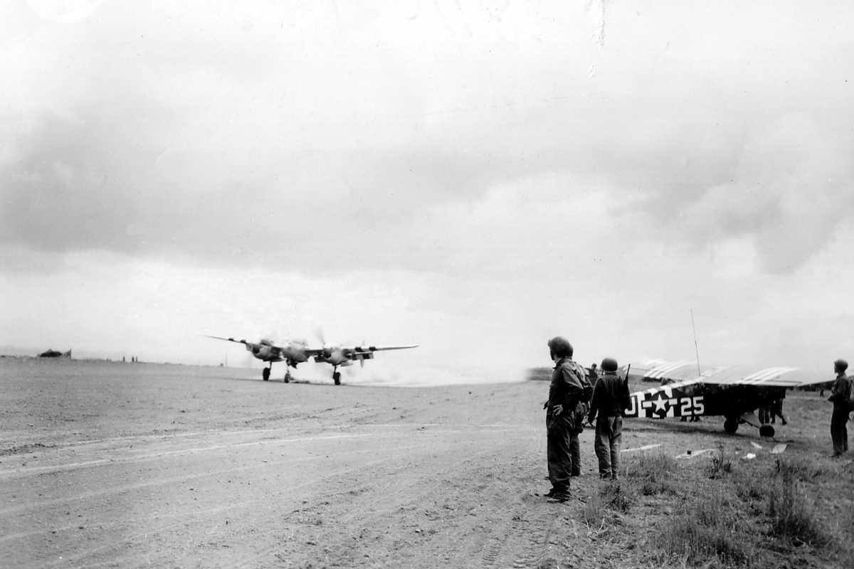 L'A10 Airfield à Carentan en 1944