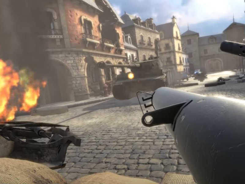 combat virtual reality museum landing