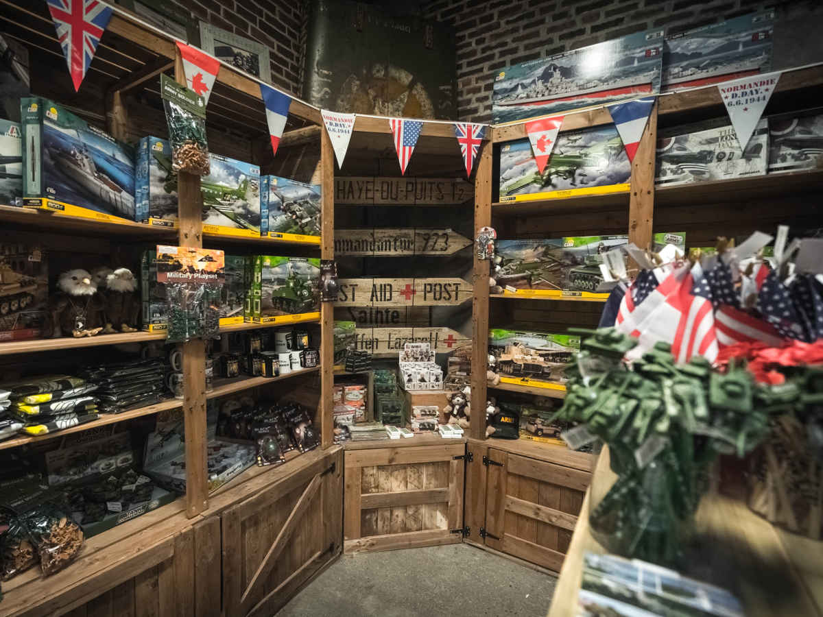 Museum shop and military models