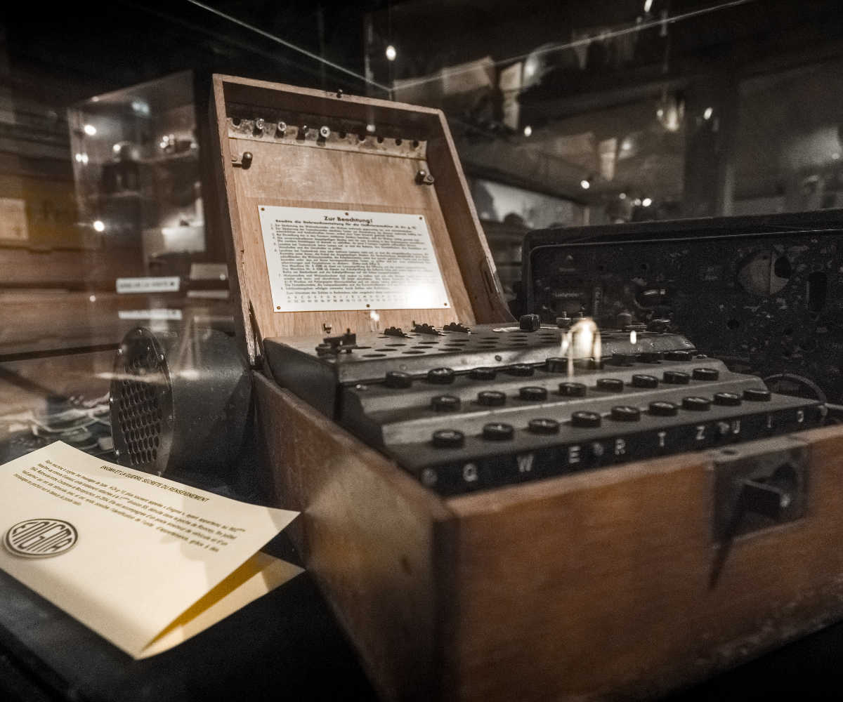 Collections du musée, la machine Enigma