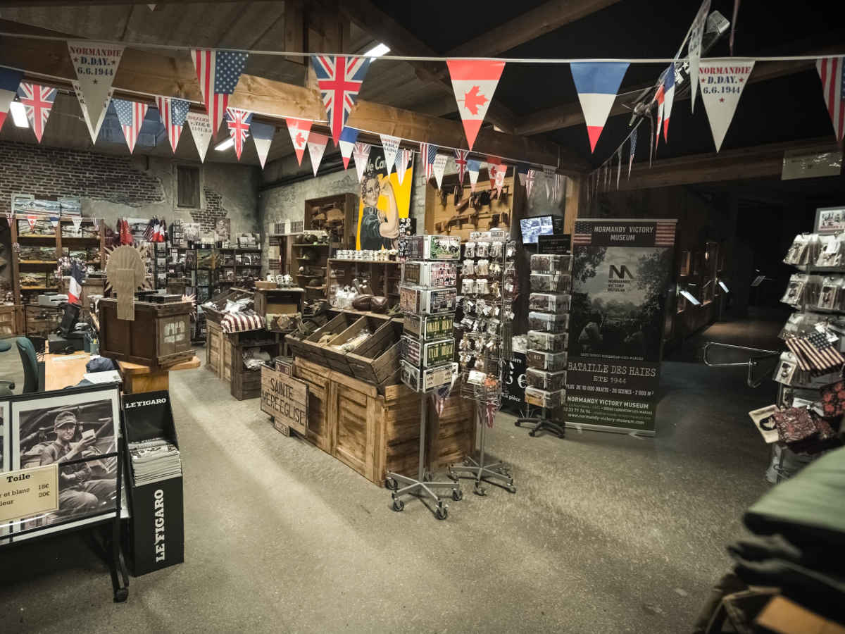 The museum shop: WW2 souvenirs and specialties
