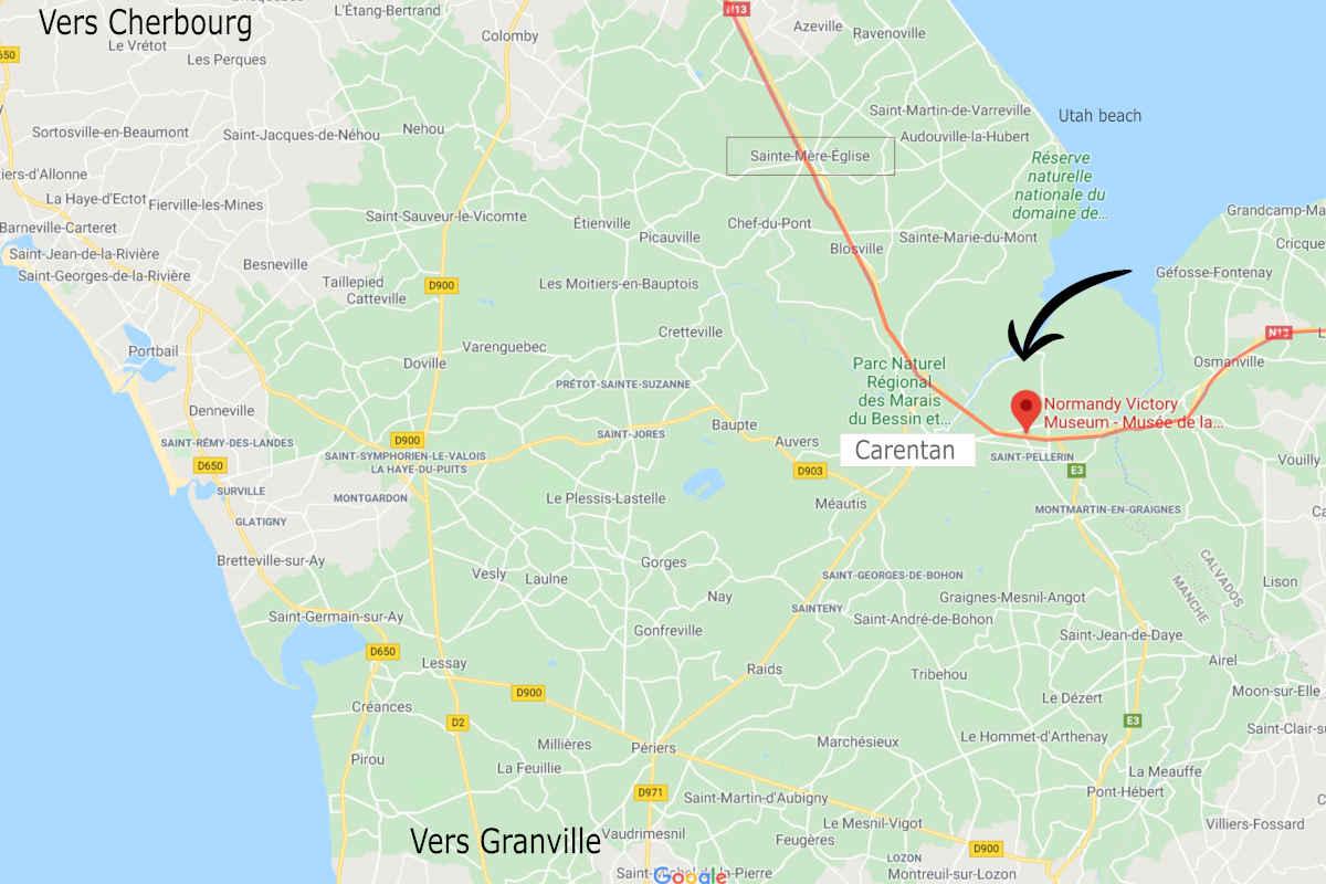 musée carentan sur google-map