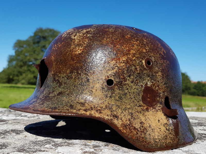 Heavily Impacted Heer's Helmet
