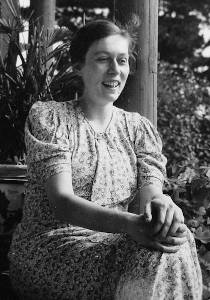 Woman in the German resistance Freya von Moltke in her veranda in 1932