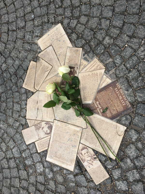 Commemorative plaque Hans and Sophie Scholl in Munich