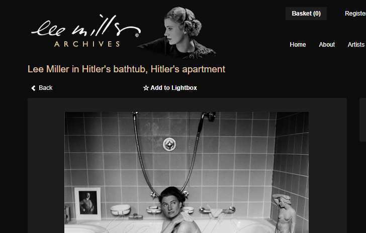 Lee Miller collection to see on the official website