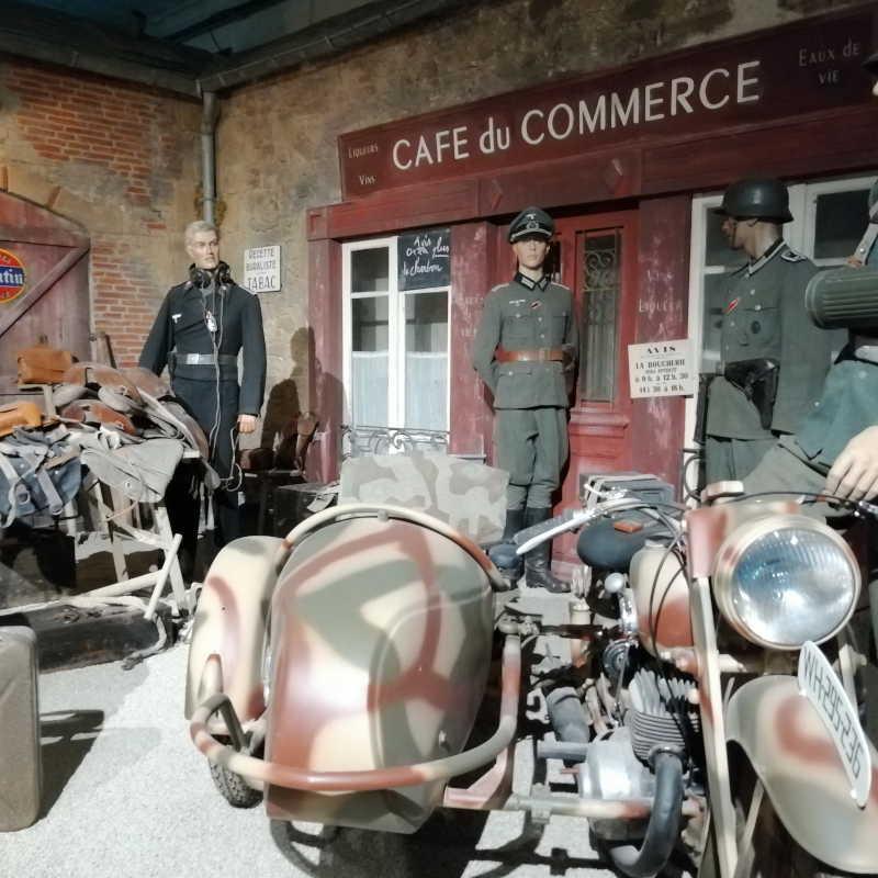 Scène du Normandy Victory Museum - l'occupation