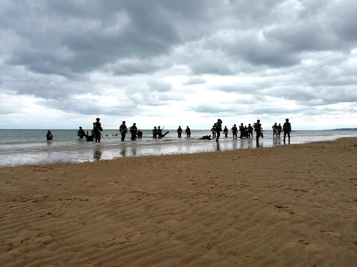 Tournage du film sur omaha beach