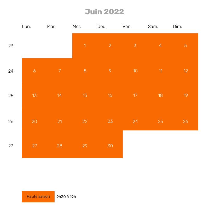 Juin 2022 - 9h30 à 19h