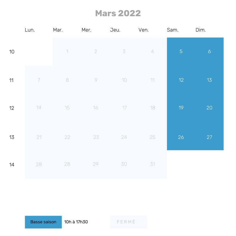 Mars 2022 - 10h à 17h30