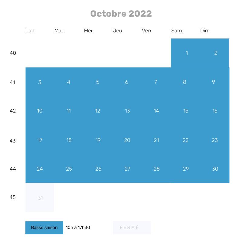 Octobre 2022 - 10h à 17h30